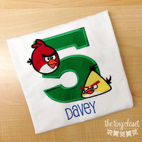 Personalized Angry Bird Birthday Design - Red & Yellow Birds