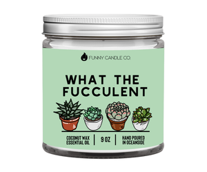 Les Creme - What The Fucculent candle -9 oz