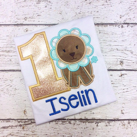 Personalized Baby Lion Birthday Design