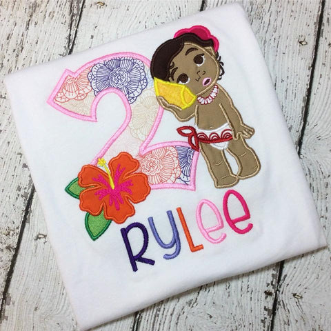 Personalized Baby Moana Birthday Design