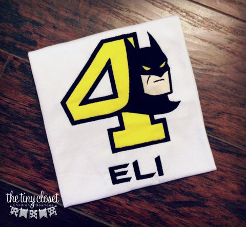 Personalized Batman Birthday Design