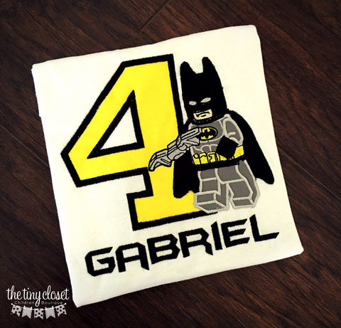 Personalized Lego Batman Birthday Design