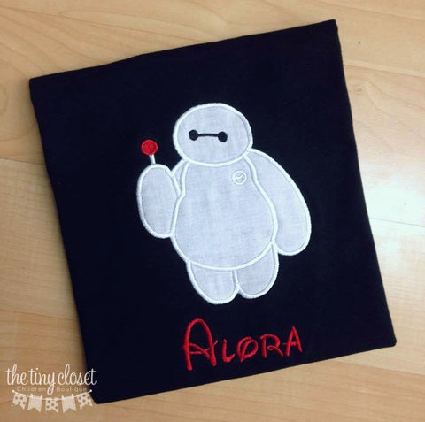 Personalized Big Hero 6 Birthday Design- Black