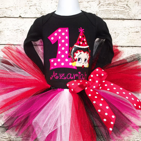 Personalized Betty Boop Birthday Tutu Set
