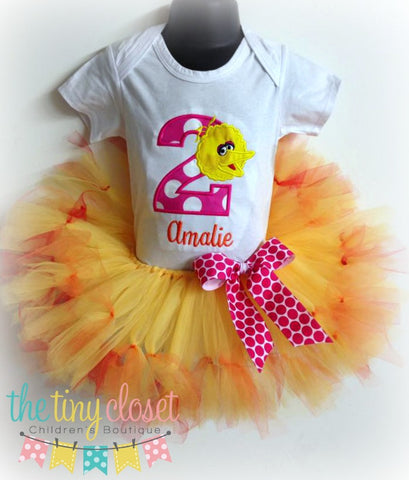 Personalized Big Bird Birthday Tutu Set