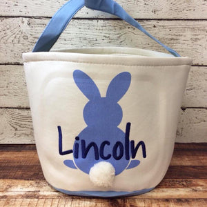 Easter Cotton Tail Bucket- Blue