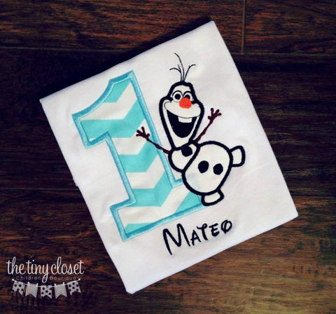 Personalized Frozen Olaf Birthday Design