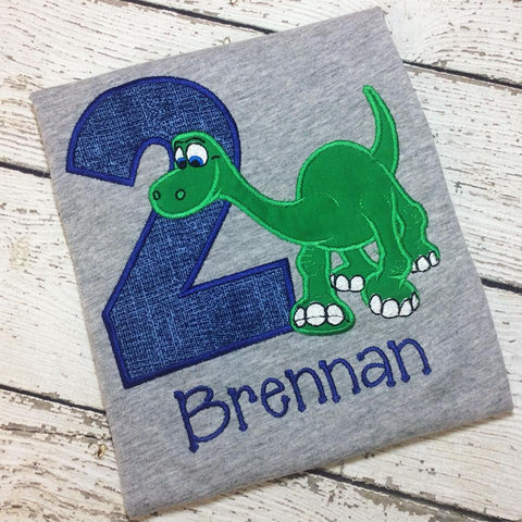 Personalized Good Dinosaur Birthday Design- Arlo Blue