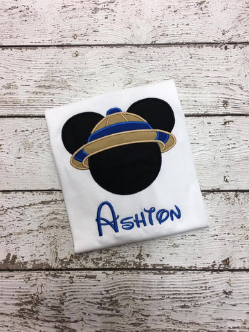 Personalized Safari Mickey Disney Design- Blue