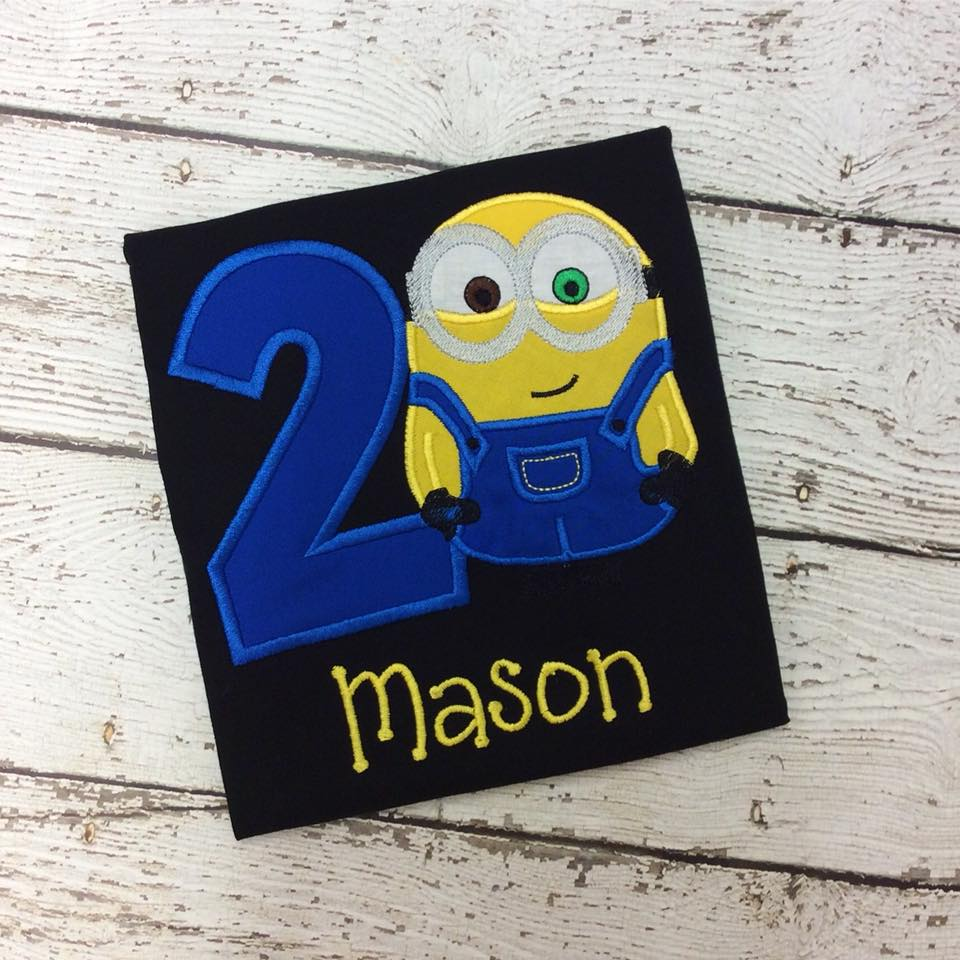 Personalized Minion Birthday Design - Bob Solid Blue