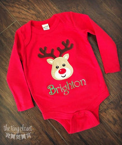 Personalized Boys Reindeer Shirt- Classic