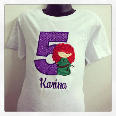 Personalized Brave Merida Birthday Design