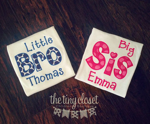 Personalized Sibling Title Design - Dots