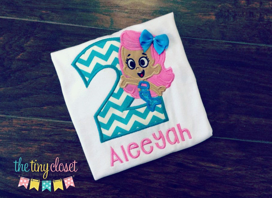 Personalized Bubble Guppies Molly Birthday Design
