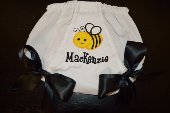 Personalized Bumble Bee Bloomer