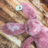 Personalized Bunny, Personalized Easter Bunny, Baby Gift, Easter Gift, Easter Bunny, Jelly Cat Bunny, Jelly Cat, Custom Bunny, Custom Rabbit, Custom Easter Bunny, Personalized Gift, Baby Shower, Easter, Easter Present, Special, Monogram, Monogram everything, Monogrammed Gift, Monogrammed Bunny, Monogrammed Rabbit, Monogrammed present