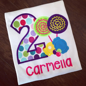 Personalized Candy Land Birthday Design