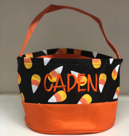Personalized Candy Corn Trick or Treat Bucket