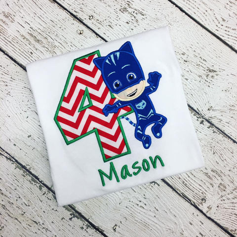 Personalized Pj Masks Birthday Design - Catboy
