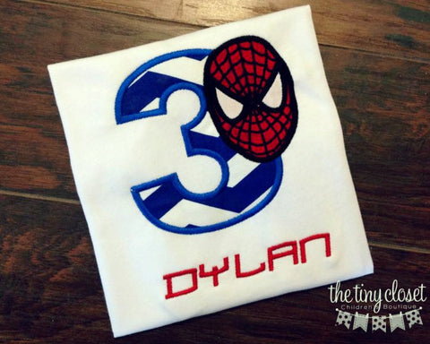 Personalized Spiderman Birthday Design - Large Royal Chev