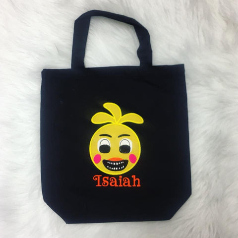 Personalized Chica FNAF Trick or Treat Bag