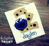 Personalized Cookie Monster Bite Birthday Design