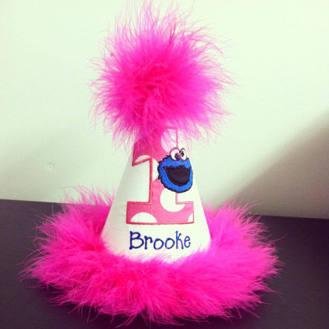 Personalized Cookie Monster Party Hat