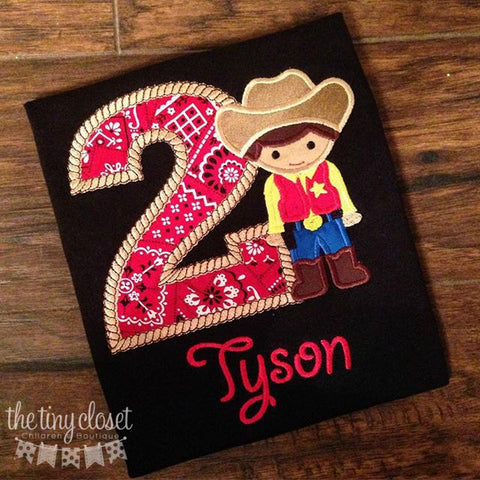 Personalized Cowboy Birthday Design