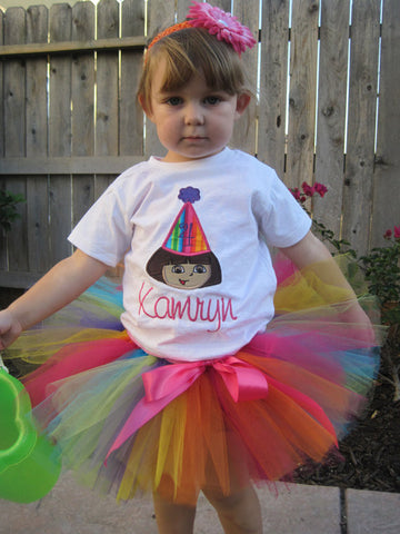 Personalized Dora the Explorer Birthday Design - Rainbow