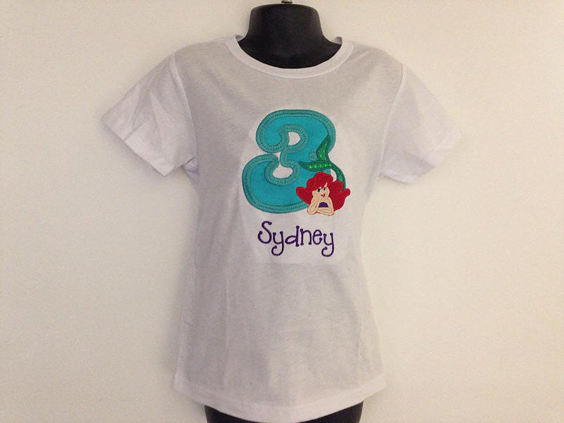 Personalized My Little Mermaid Ariel Birthday Design- Teal