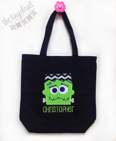 Personalized Frakenstein Trick or Treat Bag