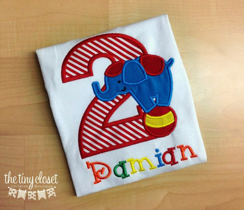 Personalized Circus Elephant Birthday Design