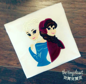 Personalized Frozen Sister Design