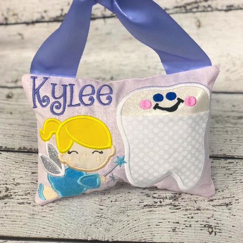 Personalized Tooth Fairy Pillow - Blonde Fairy