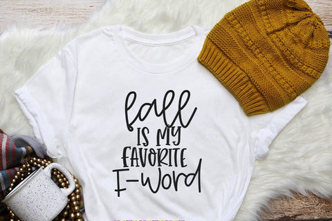 Fall is my favorite F-Word Tee - White