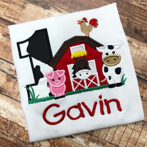 Personalized Farm Barn Animals Birthday Design
