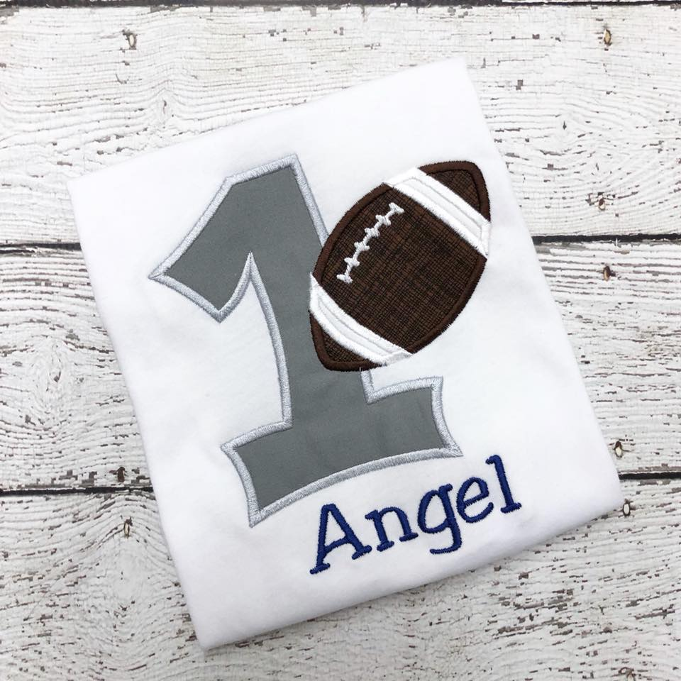 Personalized Football Birthday Design