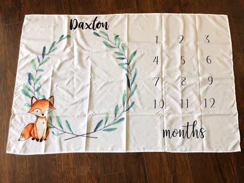 FOX LAURAL MILESTONE BLANKET