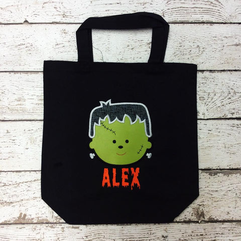 Personalized Kid Frankie Trick or Treat Bag