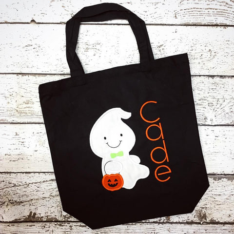 Personalized Ghost Boy Trick or Treat Bag