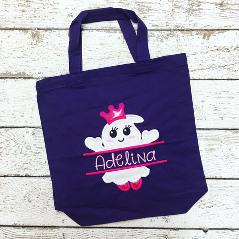 Personalized Ghost Princess Trick or Treat Bag