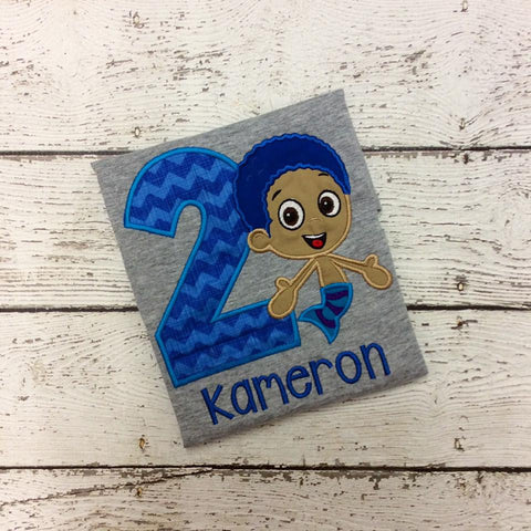 Personalized Bubble Guppies Goby Birthday Design