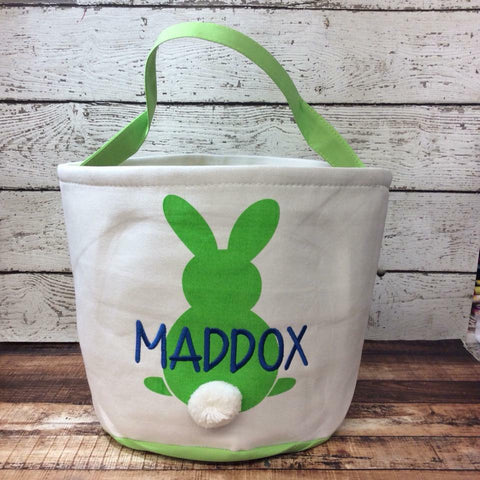 Easter Cotton Tail Bucket- Green