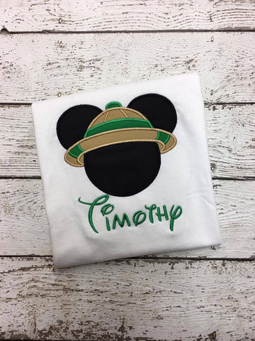 Personalized Safari Mickey Disney Design- Green