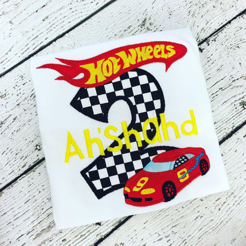 Personalized Hot Wheels Birthday Design