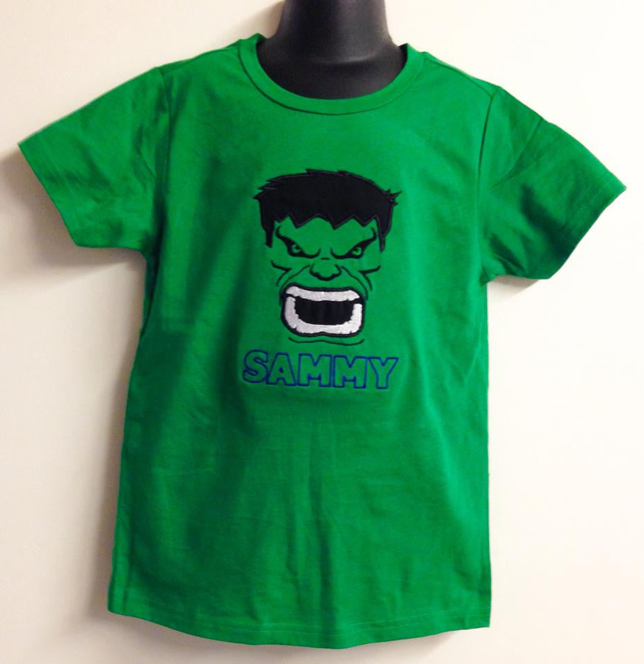 Personalized Green Hulk Design