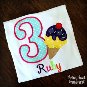 Personalized Ice Cream Party Birthday Design