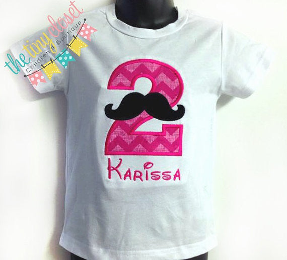 Personalized Mustache Birthday Design - Hp Chevron