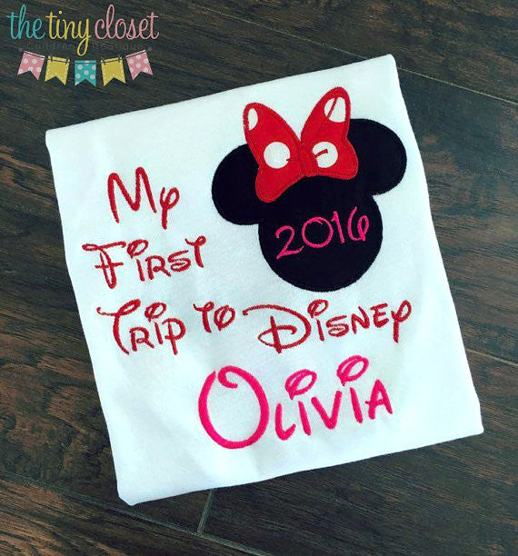 Personalized My First Trip to Disney Design-  HP Minnie Mouse