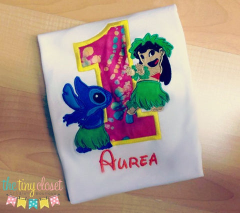 Personalized Lilo & Stitch Birthday Design